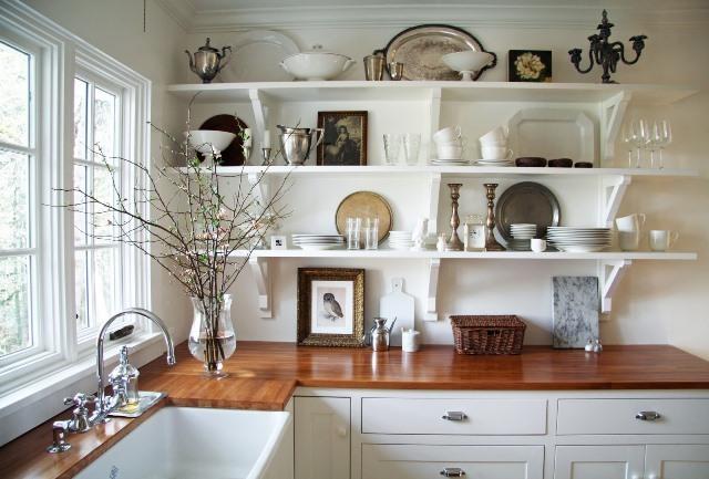 Полки на кухне дизайн